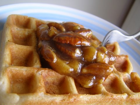 waffles brown butter banana waffles banana waffle recipe two peas ...